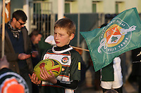 Young supporter ahead of the Greene King IPA Championship match between Ealing Trailfinders and London Welsh RFC at Castle Bar , West Ealing , England  on 26 November 2016. Photo by David Horn / PRiME Media Images