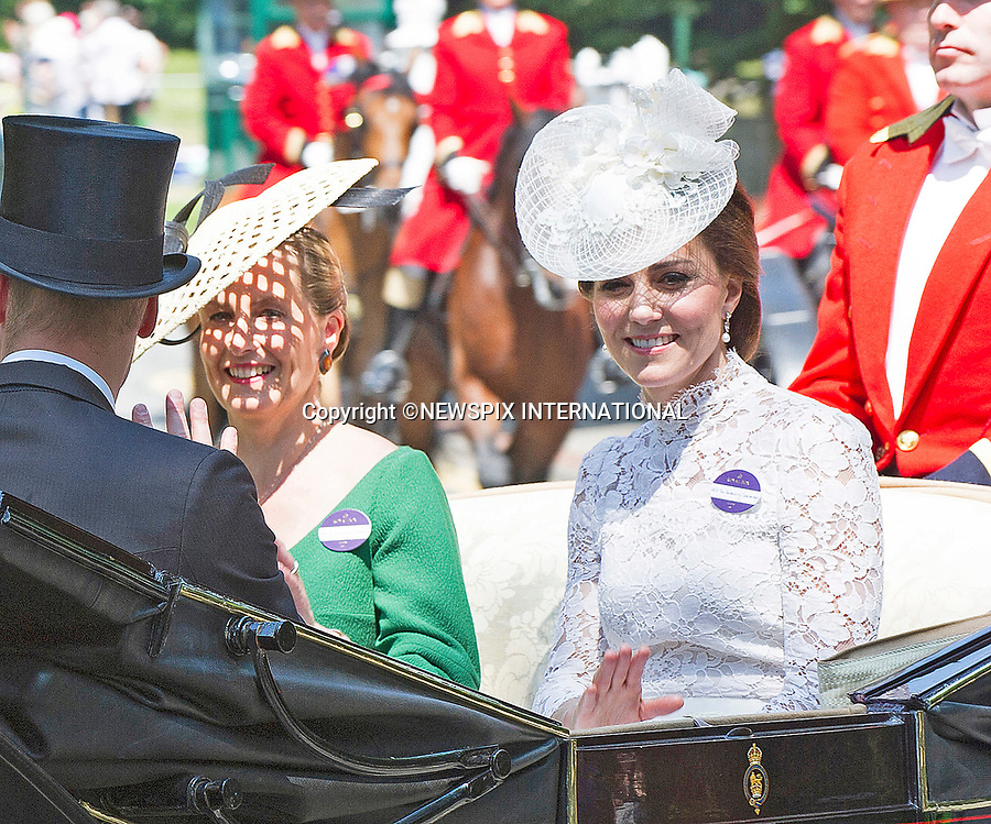 20.06.2017; Ascot, UK: DUCHESS OF CAMBRIDGE AND SOPHIE, COUNTESS OF WESSEX <br />
