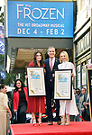 Irina Menzel, Kristen Bell -Star WofF 043 Mayor Eric Garcetti ,  Kristen Bell And Idina Menzel  Honored With Stars On The Hollywood Walk Of Fame on November 19, 2019 in Hollywood, California