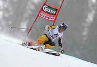 ATENCAO EDITOR IMAGEM EMBARGADA PARA VEICULOS INTERNACIONAIS - SEMMERING, AUSTRIA, 28 DEZEMBRO 2012 - AUDI FIS ALPINE WORLD CUP - A atleta canadense Marie Pier Prefontaine compete na prova de Slalom Gigante do esqui Alpino durante a Audi FIS World Cup em Semmering na Austria nesta sexta-feira, 28. (FOTO: PIXATHLON / BRAZIL PHOTO PRESS).