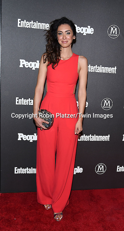 Mozhan Marno attends the Entertainment Weekly &amp; PEOPLE Magazine New York Upfronts Celebration on May 16, 2016 at Cedar Lake in New York, New York, USA.<br /> <br /> photo by Robin Platzer/Twin Images<br />  <br /> phone number 212-935-0770