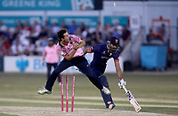 Ravi Bopara of Essex is run out by James Fuller during Essex Eagles vs Middlesex, Vitality Blast T20 Cricket at The Cloudfm County Ground on 6th July 2018