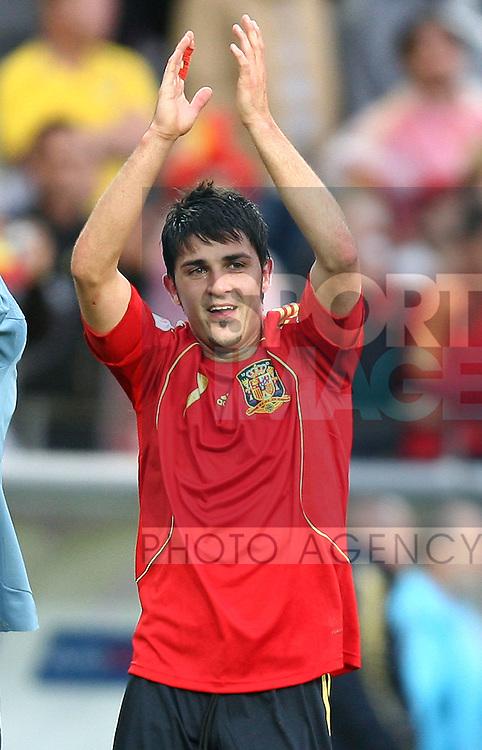 David Villa of Spain..UK SALES ONLY