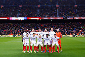 30th January 2019, Camp Nou, Barcelona, Spain; Copa del Rey football, quarter final, second leg, Barcelona versus Sevilla; Photo team of Sevilla CF line-up