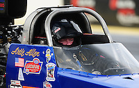 Mar. 9, 2012; Gainesville, FL, USA; NHRA top alcohol dragster driver Artie Allen during qualifying for the Gatornationals at Auto Plus Raceway at Gainesville. Mandatory Credit: Mark J. Rebilas-
