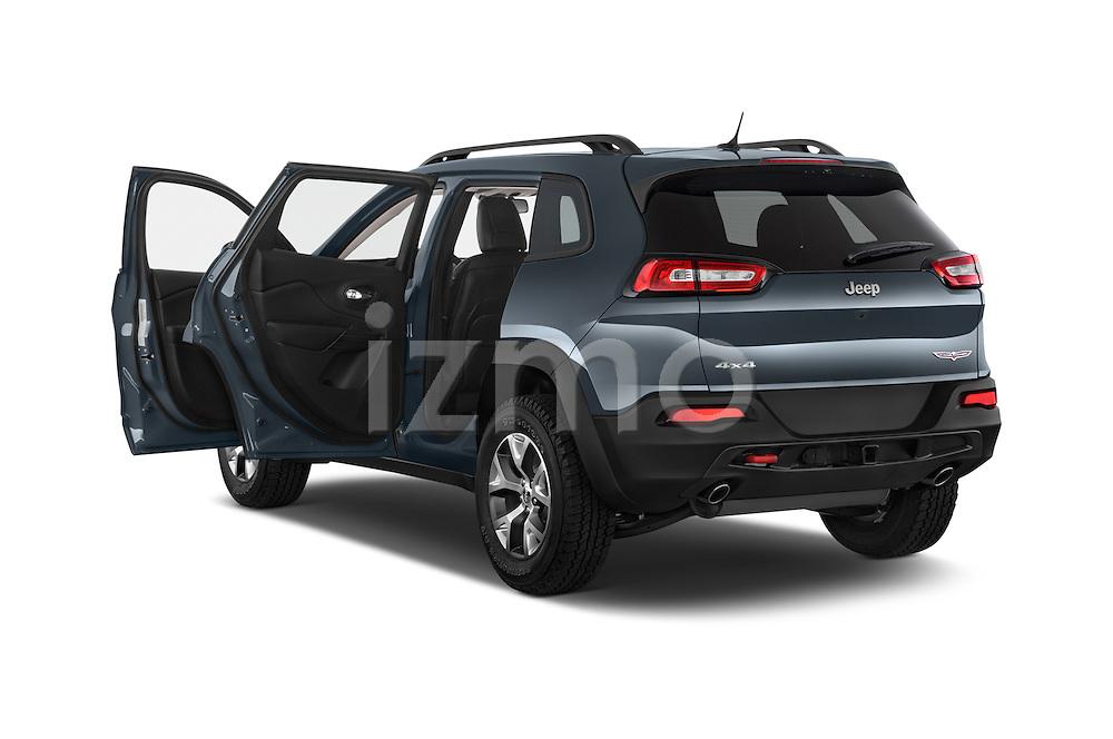 Car images close up view of a 2014 Volkswagen Cherokee Trailhawk 4X4 5 Door SUV doors