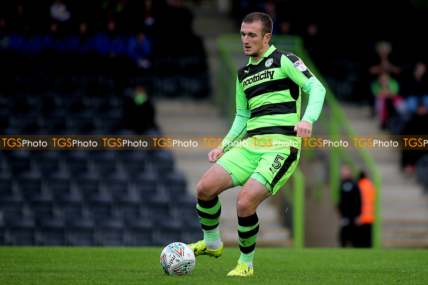 Lee Collins of Forest Green Rovers in action during Forest Green Rovers vs MK Dons, Caraboa Cup Football at The New Lawn on 8th August 2017