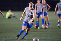 Allston, MA - Wednesday Aug. 31, 2016: Kathryn Schoepfer prior to a regular season National Women's Soccer League (NWSL) match between the Boston Breakers and the Houston Dash at Jordan Field.