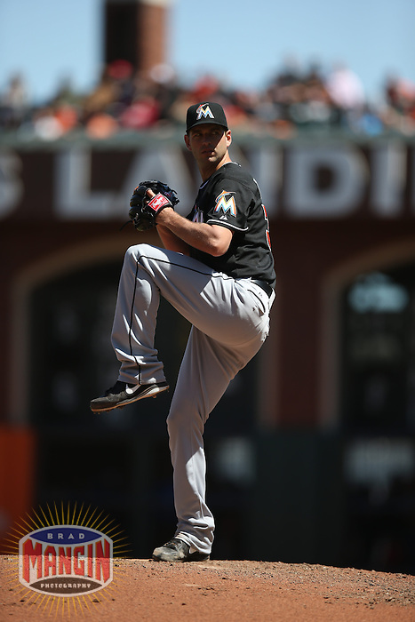 SAN FRANCISCO, CA - MAY 18:  Jacob Turner #33 of the Miami Marlins pitches against the San Francisco Giants during the game at AT&T Park on Sunday, May 18, 2014 in San Francisco, California. Photo by Brad Mangin