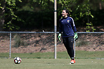 CARY, NC - APRIL 20: Sabrina D'Angelo (CAN). The North Carolina Courage held a training session on April 20, 2017, at WakeMed Soccer Park Field 7 in Cary, NC.