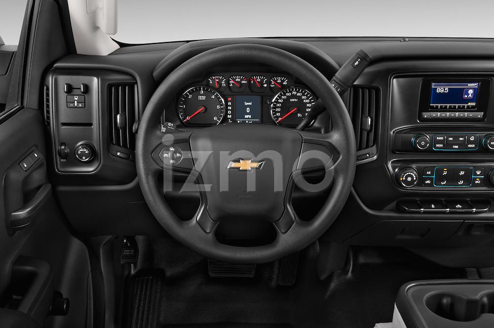 Car pictures of steering wheel view of a 2015 Chevrolet Silverado 2500 Hd Work Truck Regular Cab Lwb 2 Door Pickup 2WD Steering Wheel