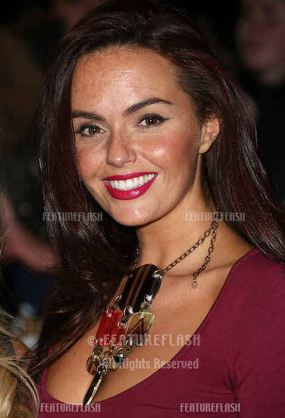Jennifer Metcalfe arriving for The MOBO awards 2012 held at the Echo Arena, Liverpool. 03/11/2012 Picture by: Henry Harris / Featureflash