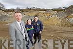 Paudie Healy project manager at the site of the National Sports and Adventure Centre home to the Kerry Stars Special Olympics club with Janet O'Donoghue and Anthony Jones Project Ambassadors.