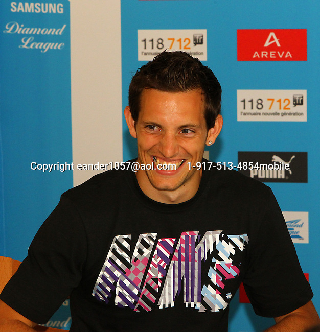 Renaud Lavillenie at the Samsung Diamond League press conference, Pullman Hotel. Paris,France Thursday, July  15, 2010. photo by Errol Anderson.