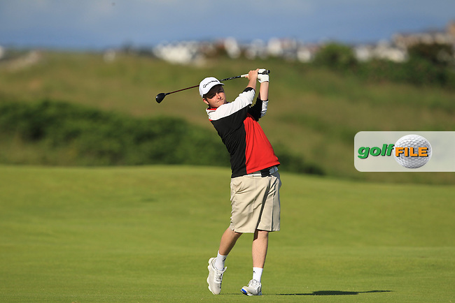 Owen Crooks (Bushfoot) on the 4th fairway during Round 3 of Matchplay in the North of Ireland Amateur Open Championship at Portrush Golf Club, Portrush on Thursday 14th July 2016.<br /> Picture:  Thos Caffrey / www.golffile.ie