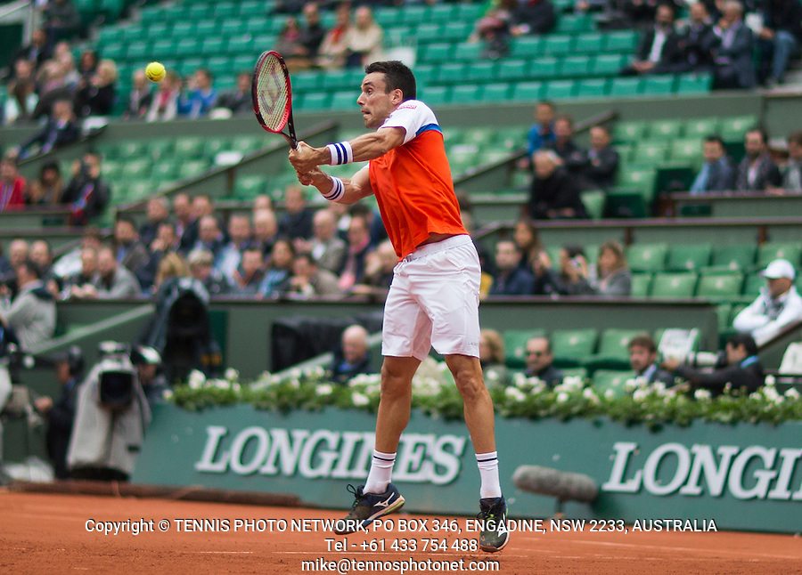 ROBERTO BAUTISTA AGUT (ESP)<br /> <br /> TENNIS - FRENCH OPEN - ROLAND GARROS - ATP - WTA - ITF - GRAND SLAM - CHAMPIONSHIPS - PARIS - FRANCE - 2016  <br /> <br /> <br /> <br /> &copy; TENNIS PHOTO NETWORK