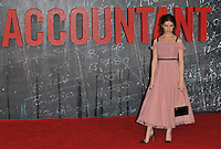 Anna Kendrick  at the &quot;The Accountant&quot; European film premiere, Cineworld Empire cinema, Leicester Square, London, England, UK, on Monday 17 October 2016.<br /> CAP/CAN<br /> &copy;CAN/Capital Pictures /MediaPunch ***NORTH AND SOUTH AMERICAS ONLY***