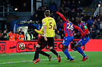 Crystal Palace's Bakary Sako scoring his sides opening goal during the premier league match at Selhurst Park Stadium, London. Picture date 12th December 2017. Picture credit should read: David Klein/Sportimage