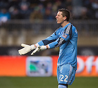 Bobby Shuttleworth.  The Philadelphia Union defeated the New England Revolution, 1-0, at PPL Park in Chester, PA.