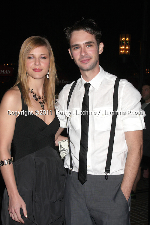 """LOS ANGELES - FEB 1:  Heather Weeks. Scott Mechlowicz  arrives at the """"Waiting For Forever"""" LA Premiere at Pacific Theaters at The Grove on February 1, 2011 in Los Angeles, CA"""