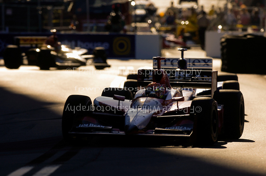 Grand Prix of St. Petersburg, 3 April, 2005.Dan Wheldon leads teammates Dario Franchitti and Bryan Herta..Copyright©F.Peirce Williams 2005.  ref.Digital Image Only