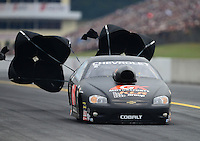 Oct. 6, 2012; Mohnton, PA, USA: NHRA pro stock driver Erica Enders during qualifying for the Auto Plus Nationals at Maple Grove Raceway. Mandatory Credit: Mark J. Rebilas-
