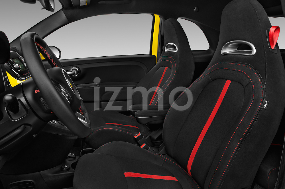 Front seat view of 2017 Fiat 500 Abarth 3 Door Hatchback Front Seat  car photos