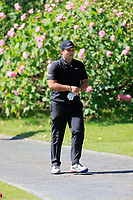 Patrick Reed (USA) on his way to the 9th tee during the final round at the WGC HSBC Champions 2018, Sheshan Golf CLub, Shanghai, China. 28/10/2018.<br /> Picture Fran Caffrey / Golffile.ie<br /> <br /> All photo usage must carry mandatory copyright credit (&copy; Golffile | Fran Caffrey)