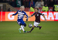 21 November 2010: Colorado Rapids midfielder Brian Mullan #11 and FC Dallas defender/midfielder Brek Shea #20 in action during the 2010 MLS CUP between the Colorado Rapids and FC Dallas at BMO Field in Toronto, Ontario Canada..The Colorado Rapids won 2-1 in extra time....