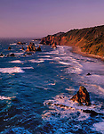 Seastacks at sunset along Highway 1 and the Pacific coast, Big Sur, California, USA John offers private photo tours in Washington and throughout Colorado. Year-round.