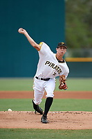 Pittsburgh Pirates pitcher Travis MacGregor (41) delivers a pitch during an Instructional League game against the Tampa Bay Rays on October 3, 2017 at Pirate City in Bradenton, Florida.  (Mike Janes/Four Seam Images)