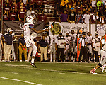 September 21, 2017. Durham, North Carolina.<br /> <br /> South Carolina State punter Cliff Benjamin kicks the balls downfield. <br /> <br /> The NCCU Eagles won a home game against the the South Carolina State Bulldogs 33-28 at O'Kelly–Riddick Stadium.