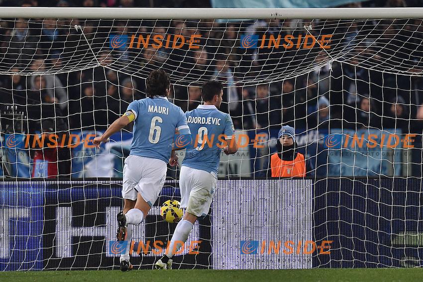 Gol Filip Djordjevic LAZIO 3-0 Goal celebration <br /> Roma 05-01-2015 Stadio Olimpico, Football Champions Serie A Lazio - Sampdoria. Foto Andrea Staccioli / Insidefoto