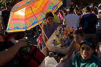 FOR THE BICENTENARY OF CHILE,SANTIAGO MIL AND THE CITY OF SANTIAGO INVITE  THE WONDERFUL &quot; PEQUENA GIGANTE &quot; FROM THE FRENCH STREET ART COMPANY &quot;ROYAL DE LUXE&quot;.<br /> <br /> THE &quot;PEQUENA GIGANTE&quot; DURING THREE DAYS WAS FOLLOWED ON ALL MEDIAS AND ABOVE ALL BY MILLIONS OF PEOPLE IN THE STREETS OF THE CAPITAL SANTIAGO.<br /> <br /> THE SHOW IS VERY UNIQUE, POETIC,POPULAR AND GENERATE ALSO A LOT OF ENTHUSIASM AND EXCITATION TO CHILDRENS AND FAMILIES.<br /> <br /> THIS HUGE PUMPET IS DRIVEN IN THE STEETS BY A LOT OF MENS WHO ARE PLAYING THEIR ROLE LIKE LILIPUTIANS.<br /> <br /> <br /> <br /> <br /> POUR LE BICENTENAIRE DU CHILI,SANTIAGO MIL ET LA VILLE DE SANTIAGO INVITENT LA MERVEILLEUSE &quot;PEQUENA GIGANTE&quot; DE LA COMPAGNIE D'ART DE RUE FRANCAISE &quot;ROYAL DE LUXE&quot;.<br /> <br /> DURANT TROIS JOURS &quot;LA PEQUENA GIGANTE&quot; FUT SUIVIE SUR TOUS LES MEDIAS ET SURTOUT PAR DES MILLIONS DE PERSONNES DANS LES RUES DE LA CAPITALE SANTIAGO.<br /> <br /> LE SPECTACLE EST UNIQUE,POETIQUE,POPULAIRE ET GENERE AUSSI BEAUCOUP D'ENTHOUSIASME ET D'EXCITATION AUPRES DES ENFANTS ET DES FAMILLES.<br /> <br /> <br /> LA GIGANTESQUE MARIONNETTE EST ARTICULEE ET COINDUITE DANS LES RUES PAR DE NOMBREUX HOMMES JOUANT LE ROLE DES LILIPUTIENS.