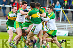 A malee breaks out between Kerry and Donegal players in the national Football League, Division 1, Round 4, at Austin Stack Park, Tralee on Sunday.