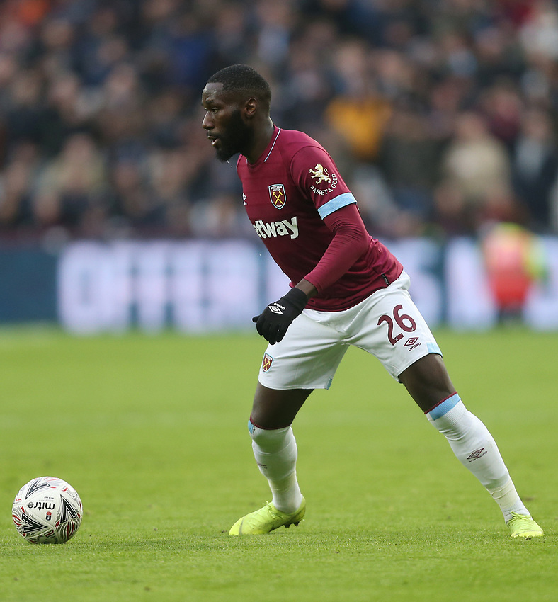 West Ham United's Arthur Masuaku<br /> <br /> Photographer Rob Newell/CameraSport<br /> <br /> Emirates FA Cup Third Round - West Ham United v Birmingham City - Saturday 5th January 2019 - London Stadium - London<br />  <br /> World Copyright © 2019 CameraSport. All rights reserved. 43 Linden Ave. Countesthorpe. Leicester. England. LE8 5PG - Tel: +44 (0) 116 277 4147 - admin@camerasport.com - www.camerasport.com