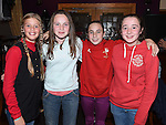 Dearbhla Tinnelly, Ciara Quinn, Abbie Sheridan and Ciara Carolan pictured at the Louth Ladies Awards night in Watters of Collon. Photo:Colin Bell/pressphotos.ie