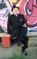 Roma 29 Ottobre 2002.Don Andrea Gallo della  Comunità di San Benedetto al Porto, Genova
