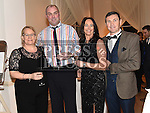 Jim and Wendy Crosby and Eamon and Linda Martin pictured at the Ardee Traders annual awards night in the Nuremore Hotel. Photo:Colin Bell/pressphotos.ie