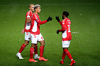 Lyle Taylor celebrates scoring Charlton's opening goal during Charlton Athletic vs Mansfield Town, Emirates FA Cup Football at The Valley on 20th November 2018