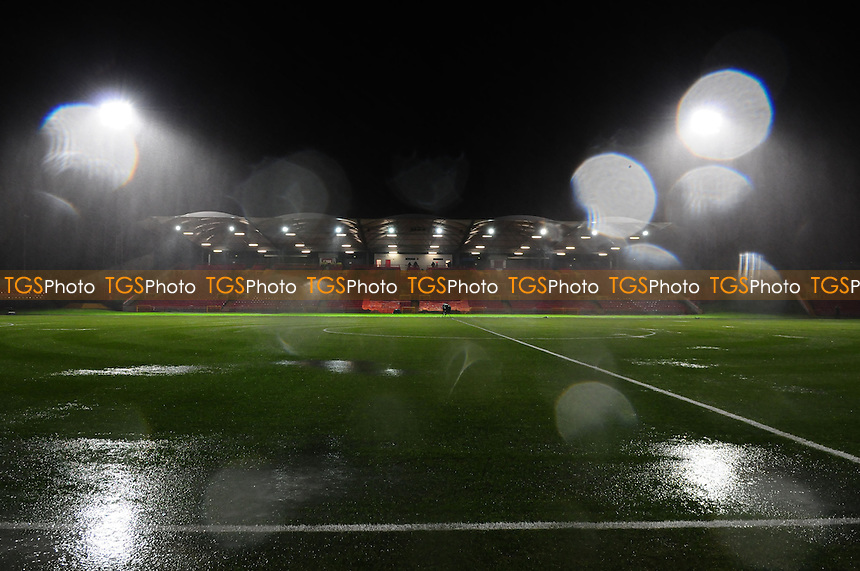 View from the Gateshead dugout after the match is called off - Gateshead vs Oxford United - FA Cup 1st Round Replay at the Gateshead International Stadium - 20/11/13 - MANDATORY CREDIT: Steven White/TGSPHOTO - Self billing applies where appropriate - 0845 094 6026 - contact@tgsphoto.co.uk - NO UNPAID USE