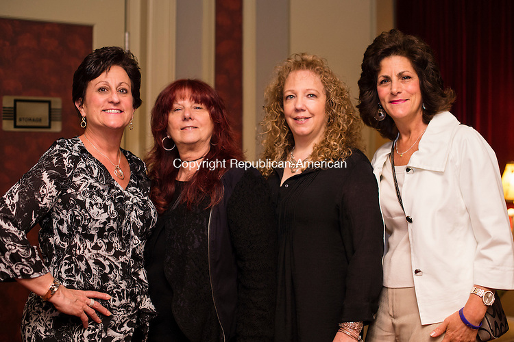 WATERBURY, CT- 17 May 2016-051716EC05-  Social Moments. From L to R: Mary Lou Giordano, Jane Emmons, Jan Forrest and Joann Lacaria gather at The Palace Theater's Palace 10.1 event on May 13th. Erin Covey Republican-American