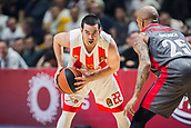9th February 2018, Aleksandar Nikolic Hall, Belgrade, Serbia; Euroleague Basketball, Crvenz Zvezda mts Belgrade versus AX Armani Exchange Olimpia Milan; Guard Taylor Rochestie of Crvena Zvezda mts Belgrade in action with the ball