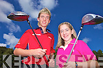 BROTHER AND SISTER: Ryan and Megan Carroll from Athea who will compete against each other in the Newcastle West Golf Club mixed foursomes competition on September 25th.