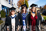 Amanda Conway (Lixnaw, Tralee), Lisa Maher (Limerick) and Shauna Doyle (Mallow), who graduated with a BA Honours Degree in Early Childhood Care and Education, from IT Tralee, on Friday morning last, at the Brandon Conference Centre, Tralee.