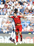 CD Leganes' Diego Rico (b) and Sevilla FC's Wissam Ben Yedder during La Liga match. October 15,2016. (ALTERPHOTOS/Acero)