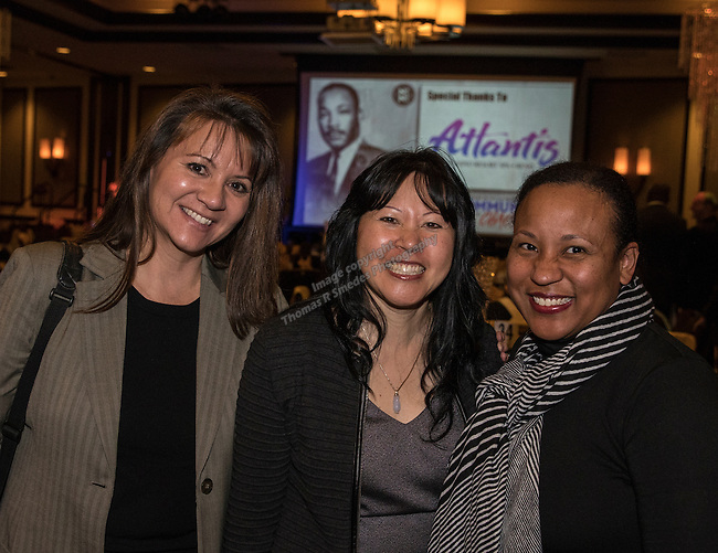 Caroln Renner, Judge Cynthia Lu and Dannielle Pugh- Markie during the 29th Annual Dr. Martin Luther King, Jr. Dinner Celebration at the Atlantis Casino Resort Spa in Reno, Monday night, Jan. 16, 2017.