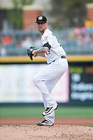 Charlotte Knights starting pitcher Anthony Ranaudo (43) in action against the Indianapolis Indians at BB&T BallPark on June 17, 2016 in Charlotte, North Carolina.  The Knights defeated the Indians 4-0.  (Brian Westerholt/Four Seam Images)