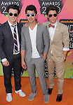 KeKevin Jonas,Joe Jonas & Nick Jonas at Nickelodeon's 23rd Annual Kids' Choice Awards held at Pauley Pavilion in Westwood, California on March 27,2010                                                                                      Copyright 2010 © DVS / RockinExposures