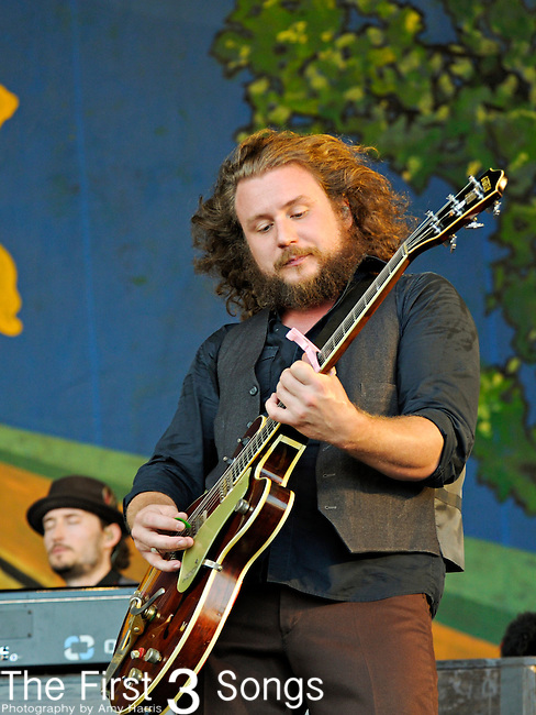 Jim James of My Morning Jacket performs during the New Orleans Jazz & Heritage Festival in New Orleans, LA on May 5, 2012.